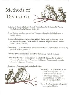 Click on pic for larger version…..this is just some ways you can use for Divination