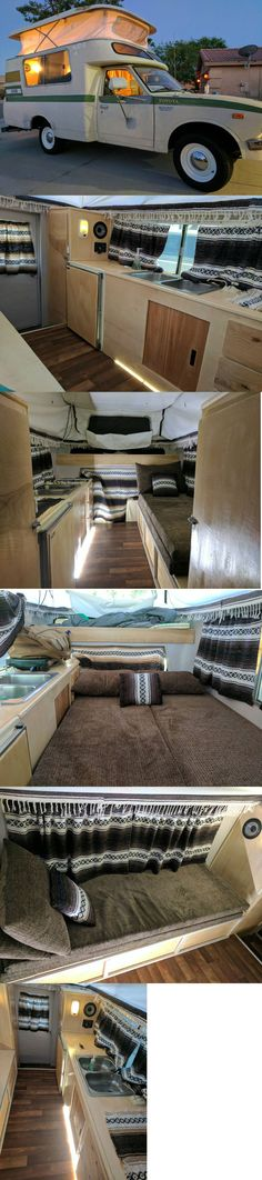 1974 Toyota Chinook Toyota Chinook, Truck Bed Camper, Toyota Trucks, Mobile Homes, Tiny Houses, Motorhome, Glamping, Campers, Shelter