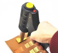 Handheld Leather bronzing embossing machine Hot Foil Stamp LOGO Branding 220V