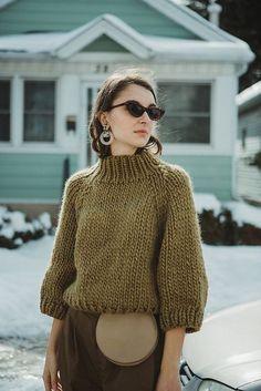 Strathcona Sweater pattern by Tara-Lynn Morrison Strathcona sweater (Pattern for sale on Ravelry) Crochet Dress Outfits, Winter Dress Outfits, Outfit Winter, Sweater Knitting Patterns, Hand Knitting, Barbie Knitting Patterns, Fall Sweaters, Sweaters For Women, Hand Knitted Sweaters