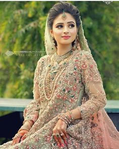 Best Season Gives You The Most Exciting Wedding. - Page 54 of 64 - Wedding ideas Pakistani Wedding Outfits, Pakistani Wedding Dresses, Bridal Outfits, Bridal Gowns, Pakistani Bridal Makeup, Pakistani Suits, Bridal Lehenga, Pakistan Bridal, Walima Dress