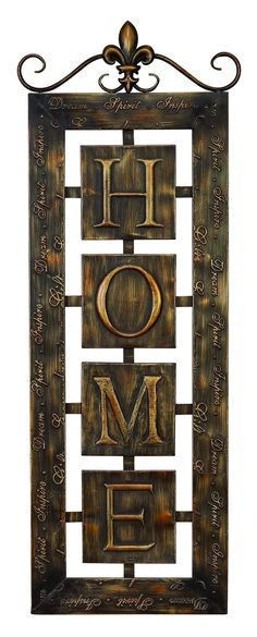 Metal Wall Plaque 'Home' An Intimate Wall Decor ÿ