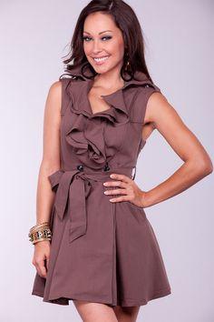 mocha colored dress
