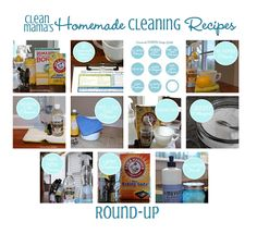 Clean Mama's Homemade Cleaning Recipes Round-Up