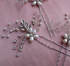 Bridal Hairpin Wedding hairpins Wedding by MagicBluebellDesigns