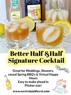 Easy pitcher make ahead coctail for any occasion. Also cute for weddings -- my niece served this at hers and it was popular with both the ladies and the gentlemen. Summer Grilling Recipes, Barbecue Recipes, Grilled Shrimp Recipes, Bbq Meat, Recipe Please, Signature Cocktail, Better Half, Sweet Tea, Fun Drinks