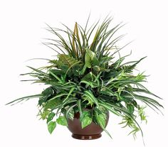 Artificial Pothos Mixed Greenery Centerpiece, Brown * Check out this great product. (This is an affiliate link) #HomeDecorIdeas