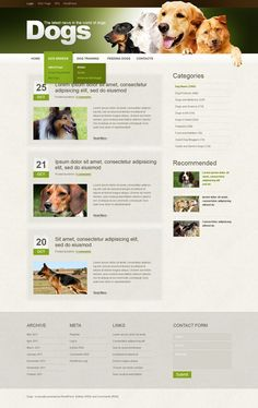 Dog WordPress Theme. Easy customizable theme with 24/7 accessible customer support.