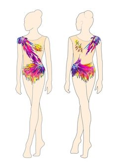 RG leotard to order - Leotards Gymnastics Suits, Rhythmic Gymnastics Leotards, Dance Leotards, Swarovski, Ice Skating, Figure Skating, Ballet Leotards For Girls, Red Leotard, Burning Flowers