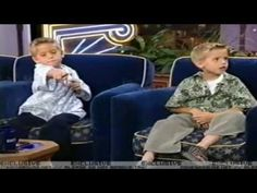 Dylan and Cole Sprouse on Jay Leno  (1999)the moment in your life when you realize how fast the time flys!