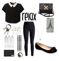 """"""":)"""" by shaycorreia ❤ liked on Polyvore featuring Machi, Bebe, CB2 and Jada"""