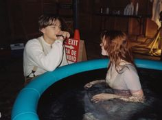"Leonardo DiCaprio and Kate Winslet during the filming of ""Titanic"""