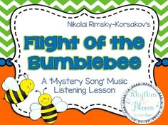 This listening lesson is a creative and engaging way to get your students thinking about classic pieces of music.  Students listen to a mystery song and draw a picture of the image they think they are hearing.  At the end of the presentation they are surprised to discover it is Rimsky-Korsakov's Flight of the Bumblebee.