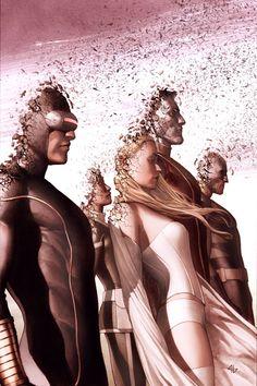 Adi Granov, New Mutants, Cyclops, Emma Frost, White Queen, Rogue, Colossus, Wolverine, X-men