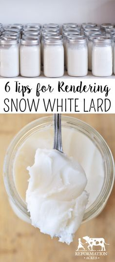 Six Tips for Rendering Snow White Lard - Reformation Acres Rendering Lard, Great Recipes, Favorite Recipes, Home Canning, Survival Food, Survival Kit, Food Facts, Preserving Food, Canning Recipes