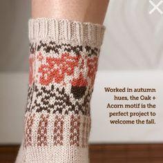 oak and acorn socks