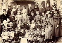 School group in 1897 celebrating Queen Victoria's Diamond Jubilee