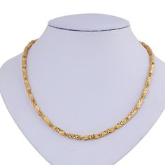 Classic Design Unisex 18K Real Gold Plated Jewelry Copper Necklace Chain Gift for Women