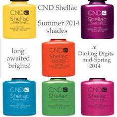 Summer 2014 CND Shellac Colors :)!