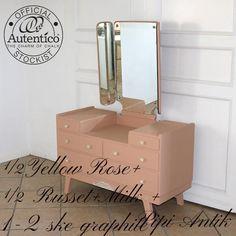 Retro sminkebord malet med Autentico kalkmaling
