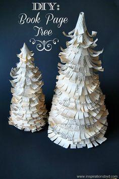 sapin de noël, papier plié; chrismas tree