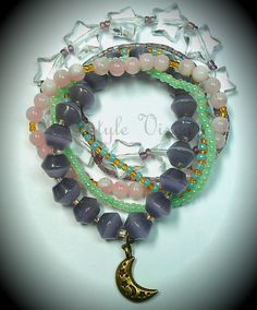 These pastel bracelets have all come together to join the party Cool Things To Buy, Stuff To Buy, Join, Pastel, Bracelets, Jewelry, Cool Stuff To Buy, Cake, Jewlery