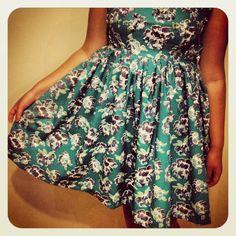 Floral dress, vintage floral, beaded