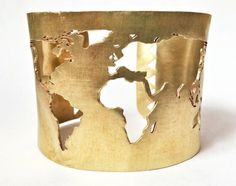 This World Map Cuff Bracelet | Community Post: 27 Travel Accessories That Will Help Cure Your Wanderlust