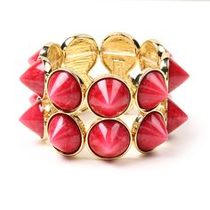 Edgy & pink - you can't go wrong! | Hampton Spike Bracelet | Amrita Singh Jewelry