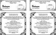 kumpulan undangan tahlil format doc Microsoft Word 2010, Microsoft Excel, Microsoft Office, Tattoo Lettering Fonts, Wedding Album Design, Pool Party Decorations, Floral Baby Shower, Word Doc, Proposal