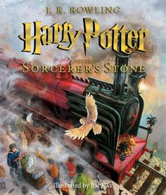 The cover of the US version of the new illustrated edition of 'Harry Potter and the Sorcerer's Stone' by Jim Kay.