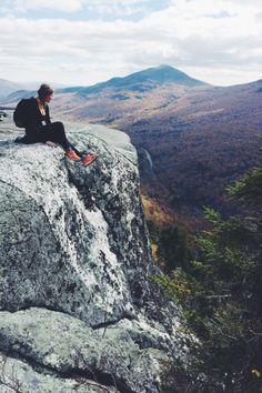 Hiking in the mountain.
