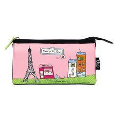 Kosmetická taška Helen P'tit Paris, pink/green | Bonami