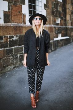 www.esther.com.au // printed pants and a blazer
