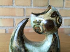 On #QUIRKYSUNDAY we bring you an elegant cat with ENGLISH MUSTACHE WHISKERS to make you:) #soholm #scandinaivan #pottery #teampinterest