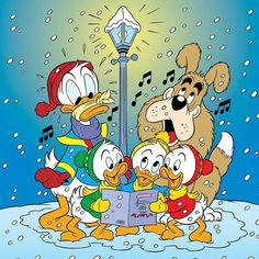 - Don't you sing, Donald! Disney Cartoon Characters, Mickey Mouse Cartoon, Mickey Mouse And Friends, Disney Cartoons, Cartoon Art, Disney Duck, Disney Love, Walt Disney, Christmas Cartoons