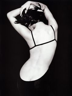 christy turlington • peter lindbergh...this is very beautiful and classy! I like the curves and angles