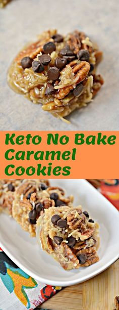 Keto No Bake Caramel Cookies #Keto #NoBake #Caramel #Cookies