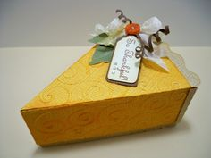 Karen's slice of pumpkin pie looks good enough to eat!!  The Pie Box is from CRISP DAYS OF FALL SVG KIT.