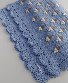 Baby Afghan Crochet, Crochet Blanket Patterns, Crochet Motif, Baby Knitting Patterns, Crochet Lace, Crochet Stitches, Embroidery Patterns, Mode Crochet, Crochet Videos