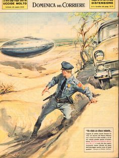 OMW this book cover looks so old-fashioned! UFO - La Domenica del Corriere