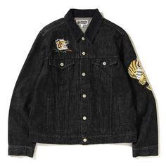 "7f87ba19972b BAPE STORE® HONG KONG OFFICIAL on Instagram  ""BAPE® Tiger Embroidery Denim  Jacket"