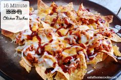 My family loves nachos.  And bbq chicken.  And cheese. So I knew this recipe would be a hit. The fact that it only takes 15 minutes is a huge bonus. That worked out really well the night I m...