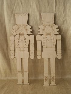 Nutcracker Wood Shapes This listing is for a set of 2 pieces. You will receive 1 of each style shown. Material: Baltic Birch, 1/8 thick. Laser