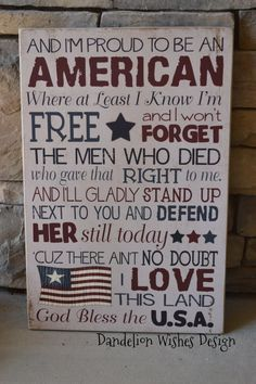Proud To Be An AMERICAN- Americana Decor, Rustic Wooden Sign, Patriotic Decoration, of July Decoration, Memorial Day Decoration Memorial Day Decorations, 4th Of July Decorations, Holiday Decorations, Church Decorations, Holiday Crafts, Patriotic Crafts, July Crafts, Patriotic Party, Patriotic Room