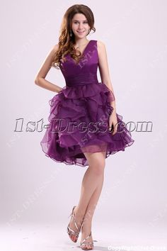 1st-dress.com Offers High Quality Lovely Grape Ruffle Short Sweet 16 Dress,Priced At Only US$149.00 (Free Shipping)