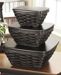 The Black Baskets work great with Country decor and Modern design:)