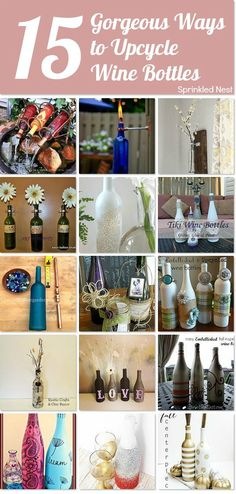 15 gorgeous ways to upcycle wine bottles