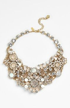 It's like looking at a bouquet of beautiful flowers | Kate Spade bib necklace.