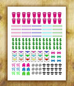 Calendar Stickers for Erin Condren Life Planner, Filofax, Franklin Covey by RemanDesignStudio on Etsy